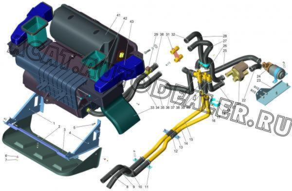 Отопление и вентиляция (ГАЗ-2705)