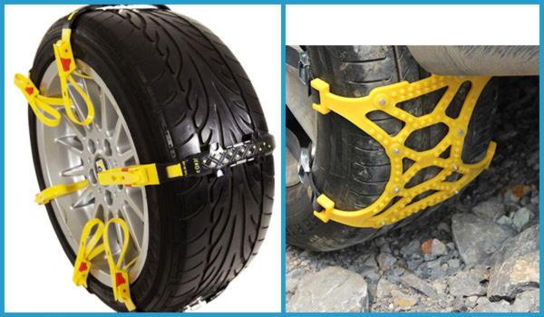 Резиновые и пластиковые цепи противоскольжения